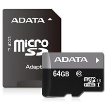 ADATA Premier UHS-I U1 Class 10 50MBps microSDHC 64GB With Adapter